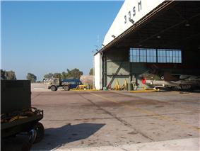 Hellenic Airforce - 335 SQ Repair Hangar - close-up.jpg