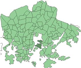 Position of Kulosaari within Helsinki
