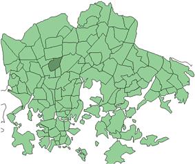Location in Helsinki