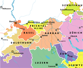 Location of Basel, Canton