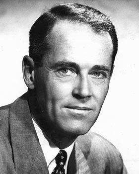 Black and white promo photo of Henry Fonda.