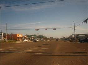 U.S. Highway 83 in Zapata, just south of the intersection with Texas State Highway 16