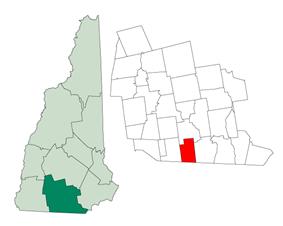 Location in Hillsborough County, New Hampshire