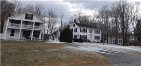 Houses in historic Hillsborough Center