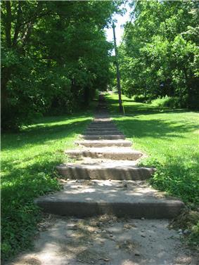The Hillsdale Steps, a community landmark