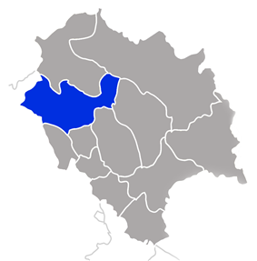 Located in the northwest part of the state