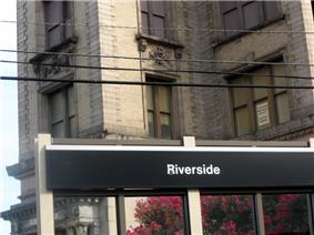 Riverside Station on the River Line