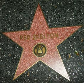 Skelton's star for his television work on the Hollywood Walk of Fame