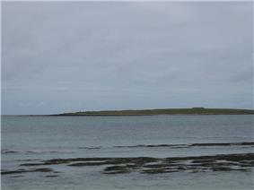 Holm of Papa, viewed across South Wick, from Papa Westray