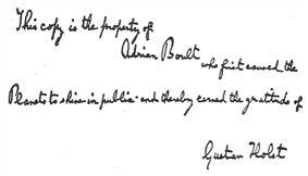 Handwritten inscription: