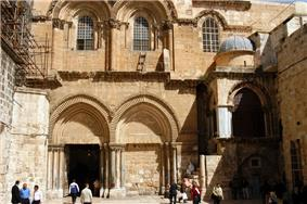 The Church of the Holy Sepulchre, where Sophronius invited Caliph Umar to offer salat.