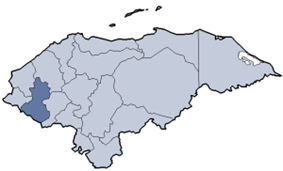 Location of Lempira department