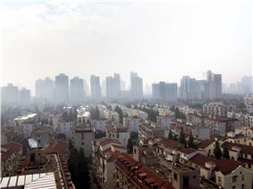 View of Hongkou from a building near Lu Xun Park