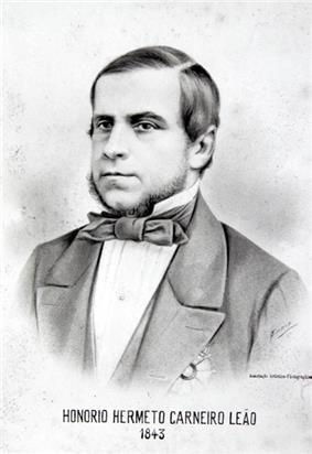 A portrait of the marquis wearing black tie