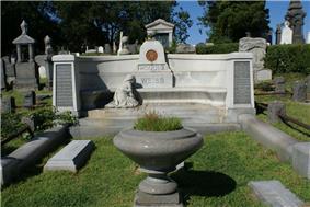 The gravesite of Harry Houdini