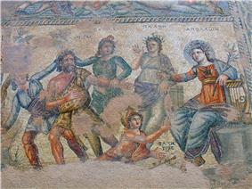 A colorful mosaic showing various people.