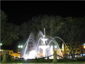 Central square in Huánuco