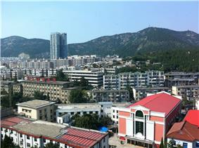 Huaibei, easterly view, taken from the twelfth floor of the Xiangwangfu Hotel
