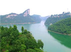 A far view of Banbianshan (半边山) - Half-Axed Mount