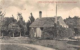 Circa 1914 postcard of the one remaining fort building, now the museum