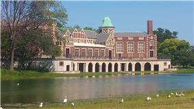 The Humboldt Park Field House and Refectory in 2014.