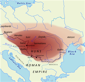 Map of the Hunnic Empire