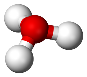 Ball and stick model of hydronium