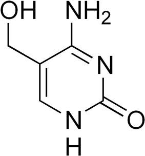 Chemical structure of 5-hydroxymethylcytosine