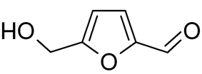 Chemical structure of Hydroxymethylfurfural