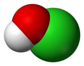 hypochlorous acid space filling