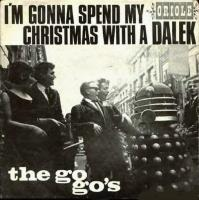 A square record cover, with the text