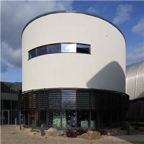 A round building