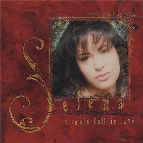 A cover art of an American singer Selena cropped into a frame inside the cover art of her single