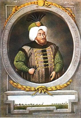 Portrait of Mustafa II by John Young