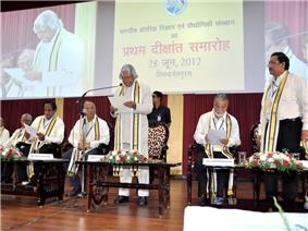 Dr.A. P. J. Abdul Kalam, Chancellor, IIST delivering the presidential address at the first convocation of IIST in 2012