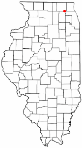 Location of Algonquin, Illinois