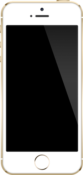 The front face of the gold version of the iPhone 5S