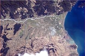Blenheim pictured from the International Space Station