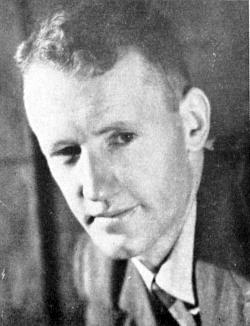 A black and white photograph of Ian Smith