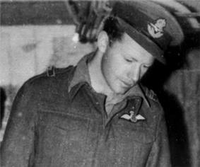 A man in a Second World War-era Royal Air Force uniform
