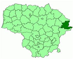 Location of Ignalina district municipality within Lithuania