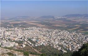 Iksal, as seen from Nazareth Illit