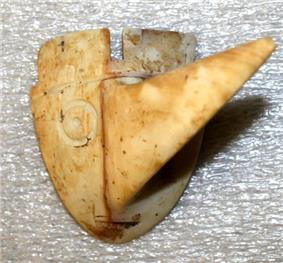A long-nosed god maskette from the Yokem Mound Group in Pike County, Illinois
