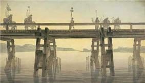 Caesar's Rhine Bridge, by John Soane (1814)