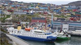 Old town and harbor of Ilulissat