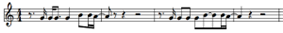 Musical notation for the main vocal melody to