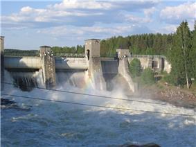 The dam of Imatra