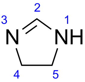 Skeletal formula of imidazoline