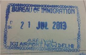 Entry stamp