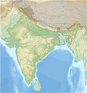Map showing the location of Thattekkad Bird Sanctuary